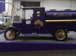 Basically the only things they let you take a photo of, old delivery trucks.