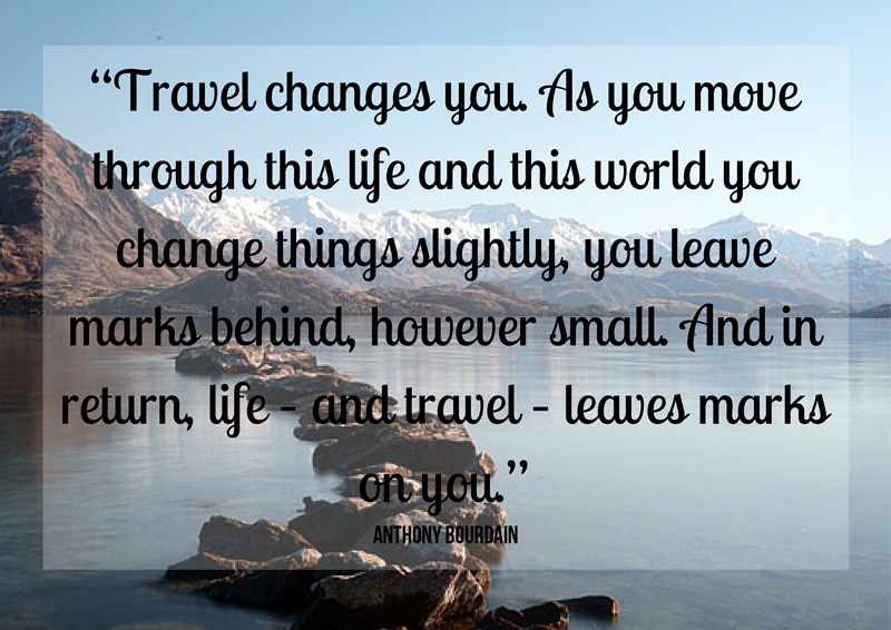 returning home from long term travel anthony bourdain quote