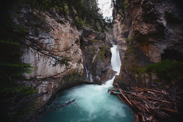 5 must see lakes in Banff National Park Johnston-Canyon-Falls