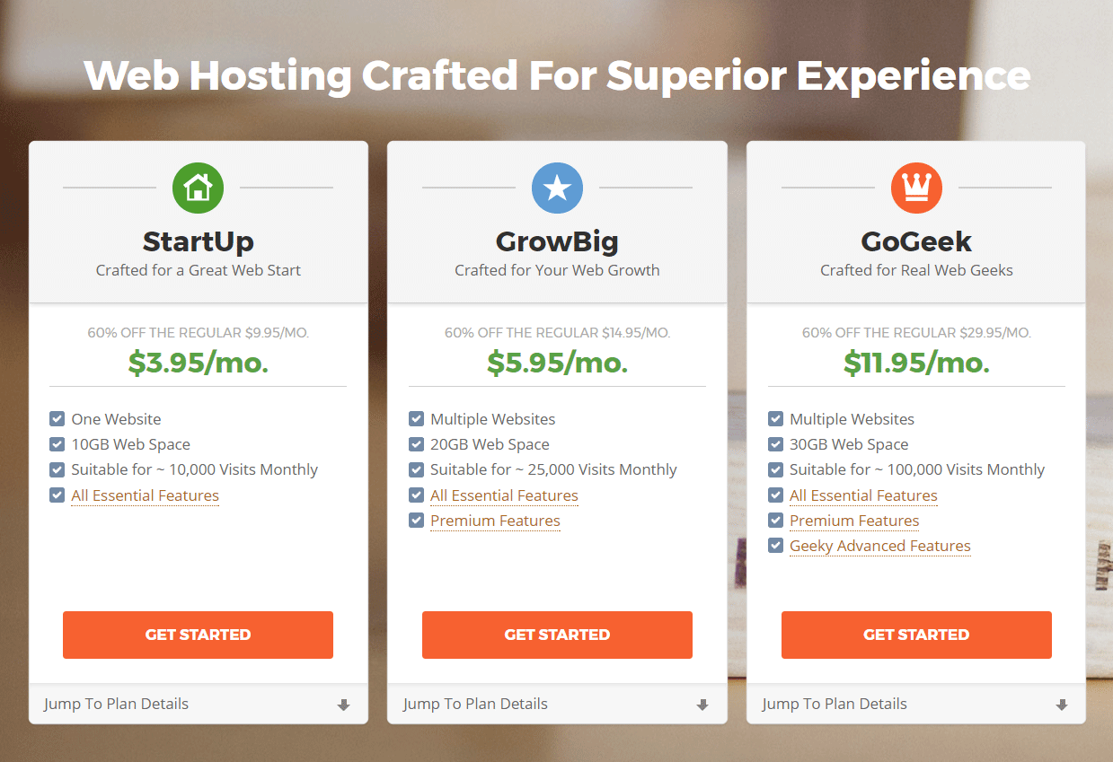 wordpress website hosting with siteground