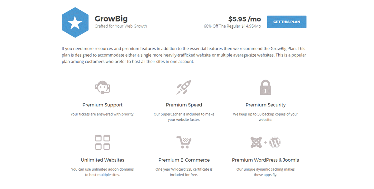wordpess website hosting with siteground growbig