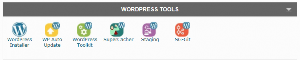 wordpress website install from siteground