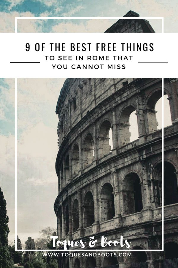 Rome Italy, known as the Eternal City. One of the most visited places in the world. Make the most of your time with these 9 free things to do in Rome. #visitrome #rome #travelitaly #italy #travelblog #travel