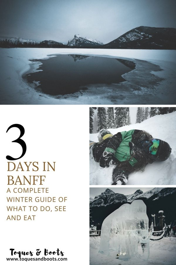Planning to spend a few days in winter in Banff Canada? This complete 3 day guide will show you all the things to do in Banff in winter that you can't miss!